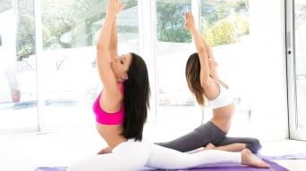 Alina Li in 'Naked Yoga'
